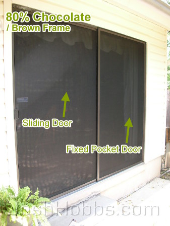 Sliding Solar Sun Screen Door